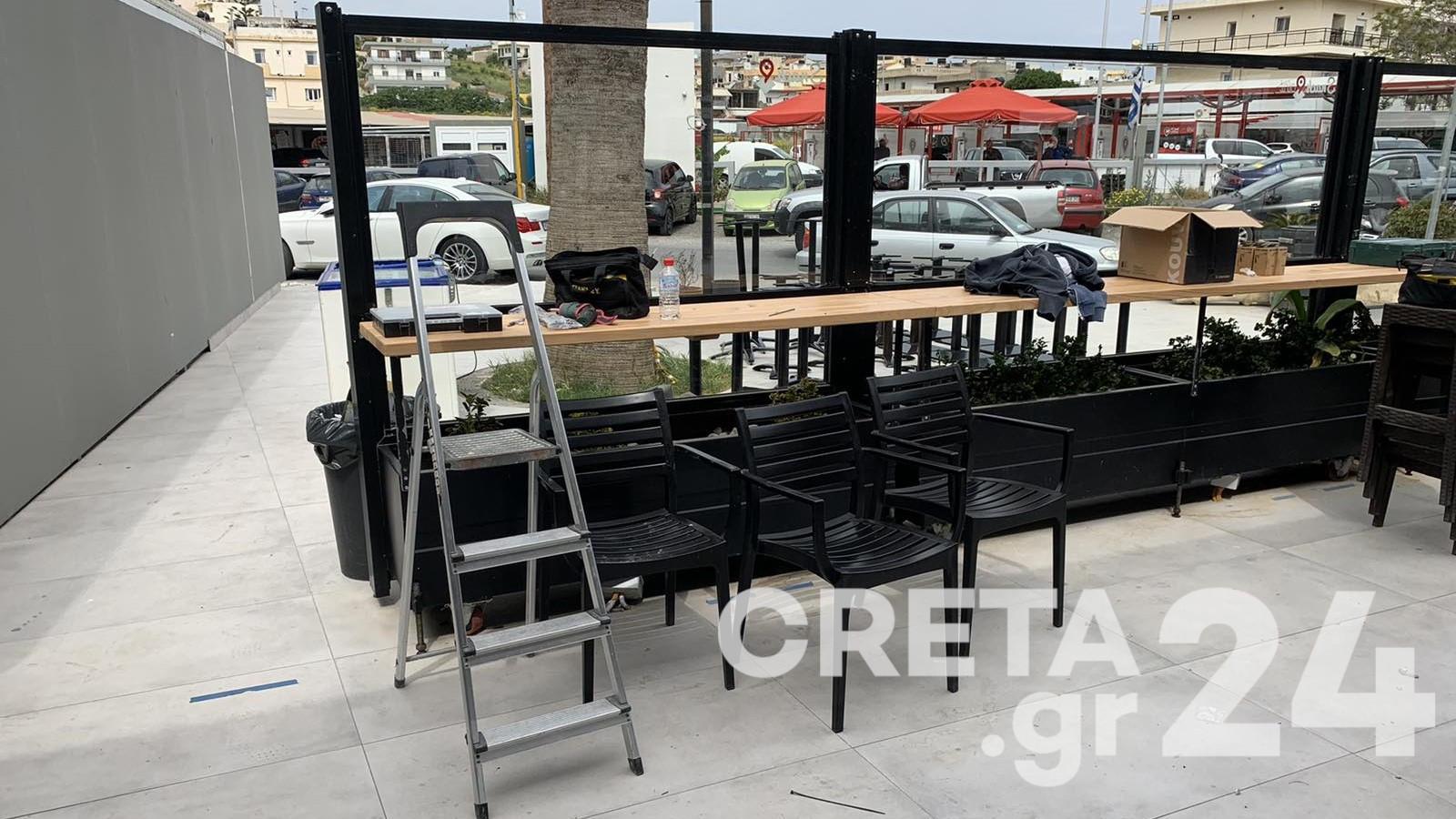 Κρήτη: Πυρετώδεις προετοιμασίες για το άνοιγμα της εστίασης – Άρχισαν οι κρατήσεις (pics)